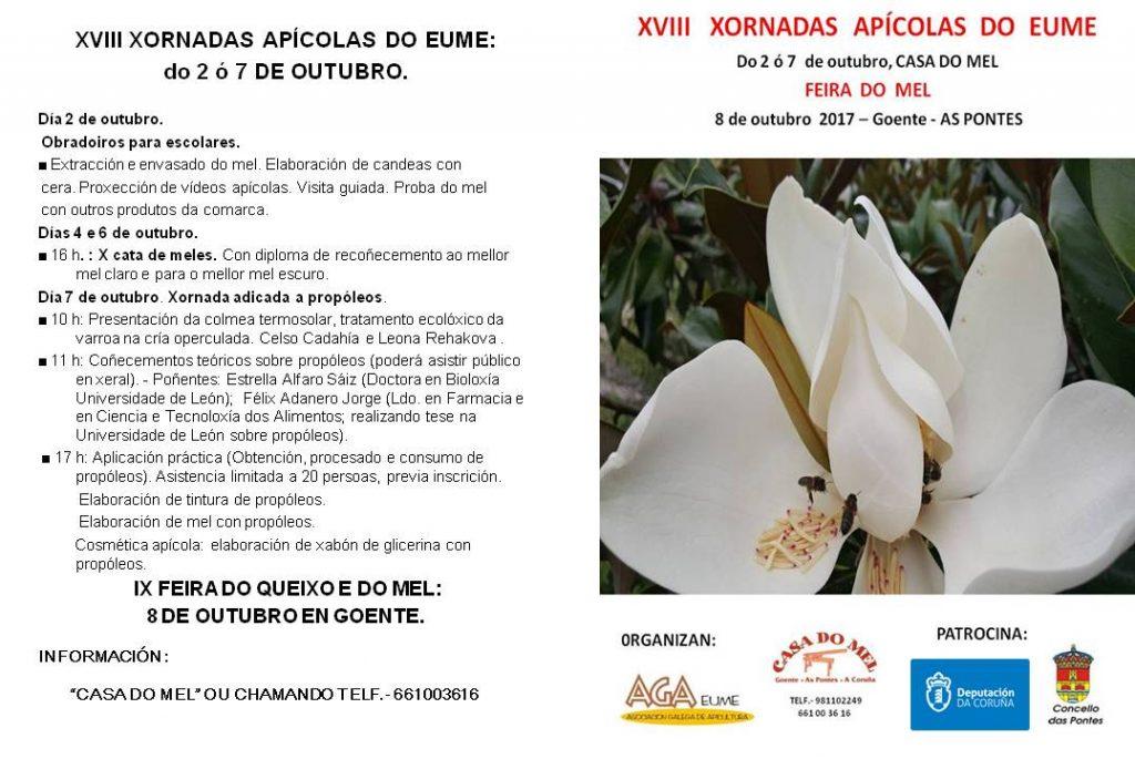Programa XVIII XORNADAS APÍCOLAS